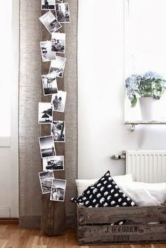 Krrative Ideen für Fotowände - Tolle Idee um Fotos mal anders darzustellen. Super Alternative für den langweiligen Bilderrahmen