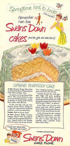 vintage Swans Down cake flour ad