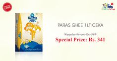 Get discount on 1 Ltr #Paras #Ghee only at Kiraanastore.