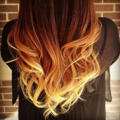 Auburn to Blonde Ombre