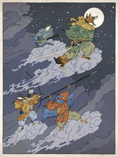 Classic video game heroes rendered as traditional Japanese art. Here's StarFox.