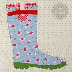 Cocorico Block for Kylie-Cath Kidston Rainboot by During Quiet Time (Amy), via Flickr - Amazing