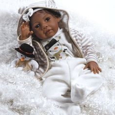 """Paradise Galleries Lifelike Realistic Soft Vinyl 20 inch Baby African American Girl Doll Gift """"Baby Kione"""" Great to Reborn"""