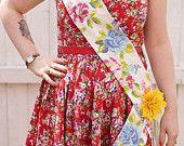 Handmade customised occasion sash