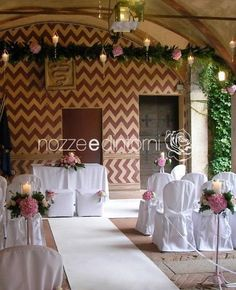 Ceremony in Sartirana Castle, Italy. Floral and set design by #nozzeedintorni - wedding designer and coordinator. www.nozzeedintorni.com