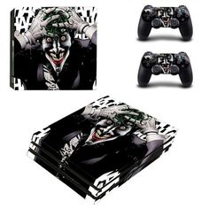 The Joker PlayStation 4 pro skin decal for console and controllers