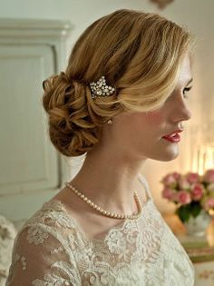 Wedding hairstyles for a bride