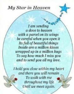 Missing My Daughter in Heaven   My star in Heaven. Miss you every moment mom. ...   Until We Meet Ag ...