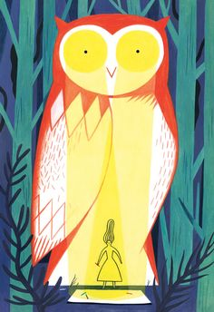 Anne Laval is a Strasbourg-based illustrator whose pieces feature wispy shapes that signify hair, spirits, and more. Character Illustration, Graphic Illustration, Whimsical Owl, Laval, Owl Art, Freelance Illustrator, Graphic Design Typography, Character Design, Artsy
