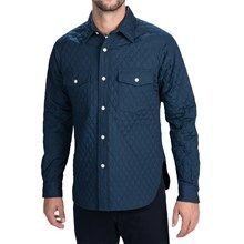 Woolrich Quilted Raglan Shirt - Button Front, Insulated (For Men) in Navy - Closeouts