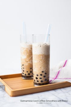 Vietnamese Iced Coffee Smoothie With Boba