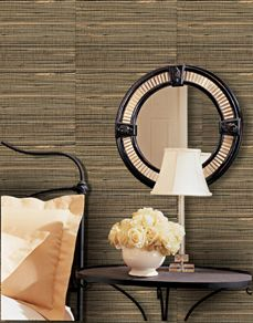 I really like the grasscloth texture wallpaper. Am trying to figure out what style/color would look best in my living room! Powder Room Wallpaper, Wallpaper Decor, Wallpaper Grasscloth, Basement Renovations, Textured Wallpaper, Wall Treatments, Creative Decor, My Living Room, Interior And Exterior