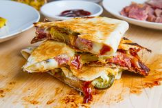 #BBQ #Ham #Bacon and #Pineapple #Quesadillas! From the site www.closetcooking.com comes this absolutely #fantastico and easy to make #Mexican #Hawaiin #Fusion plate of perfection. (insert recipe with proper formating)