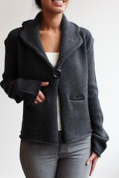 The Frankie, Merino wool, Blazer is finally up on the web!!!!!  You can literally wear this blazer w/anything!!!  So pretty and cozy!!