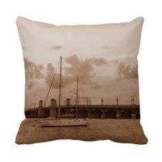 Sepia Sunset Throw Pillow