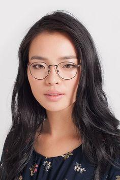 6152c1243246 Matte Black and Tortoise Round Prescription Eyeglasses-Small Full-Rim Metal  Eyewear-Fitzgerald