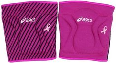 Asics Women's Reversible Knee Pads, Pink Glow, Single Size by ASICS. $22.40. These breast cancer awareness kneepads can protect any volleyball player who is diving around the court. With its GEL cushioning and super low profile look, you will look and perform at your best.. Save 20% Off!