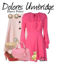 Dolores Umbridge by jess-nichole on Polyvore featuring polyvore fashion style Giamba Roksanda Chase & Chloe Monet Miss Selfridge clothing