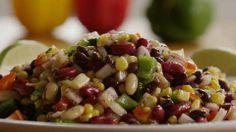 Mexican Bean Salad Allrecipes.com Dressing sounds good!