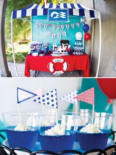 Nautical Love Boat Bon Voyage {Going Away} Party