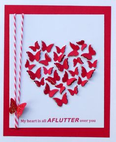 Jenniferjfletcher's Gallery: My heart is all aflutter over you - MB Heart / Butterfly die