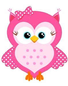 Sweet Pink Cartoon Owl x 5 Flat Cards Mais Owl Clip Art, Owl Art, Owl Crafts, Diy And Crafts, Wallpaper World, Owl Shower, Owl Birthday Parties, Owl Cartoon, Cartoon Elephant