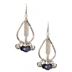 Olivia Welles Teardrop Earring with Fringe and Beaded Accents