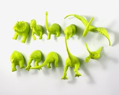 Chartreuse Dinosaur Magnets