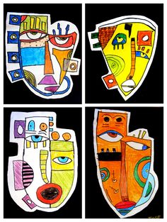 a la manera de Kimmy Cantrell Kunst Picasso, Picasso Art, Kids Art Class, Art For Kids, Kimmy Cantrell, Recycled Art Projects, Ecole Art, Smart Art, School Art Projects