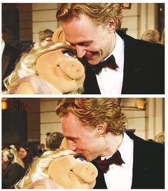 Tom & Miss Piggy - I've never been so jealous of a muppet in my life!