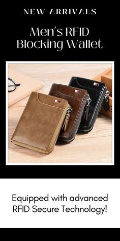 This Men's RFID Blocking Wallet is equipped with advanced RFID Secure Technology, a unique metal composite, engineered specifically to block 13.56 MHz or higher RFID signals and protect the valuable information stored on RFID chips from unauthorized scans. Currently 60%OFF with Free Shipping!! Only on neulons.com Vintage Leather, Pu Leather, Rfid Blocking Wallet, Spring Sale, Natural Oils, Black And Brown, Card Holder, Chips, Technology