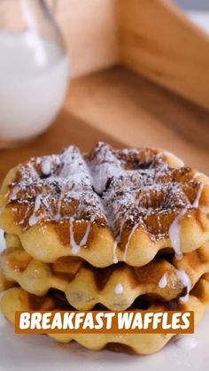 Fun Baking Recipes, Dessert Recipes, Cooking Recipes, Waffle Iron Recipes, Delicious Desserts, Yummy Food, Crepes, Snacks, Galette