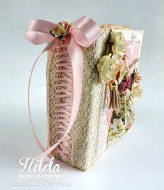 Hilda Designs: Mini Album Shabby Chic con Rocio Cano