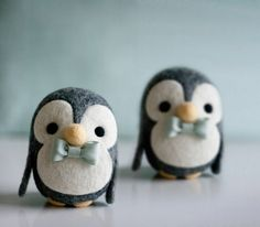 http://lepetitmoon.com/felting-for-two/  Making felt penguins (could be used for owls and minions as well)