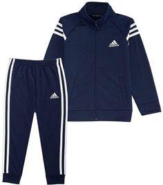 adidas Little Boys Front-Zip Jacket & Jogger Pants Set - Blue 6 Toddler Pants, Toddler Boys, Cute Girl Outfits, Kids Outfits, Adidas Baby, Toddler Boy Fashion, Adidas Fashion, Jogger Pants, Joggers