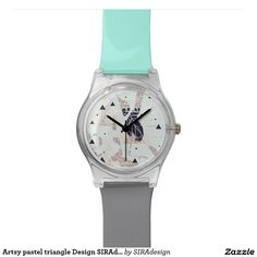 Artsy pastel triangle Design SIRAdesign Watch