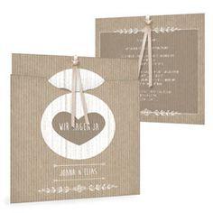 Moderne Hochzeitseinladung, Joana und Elias, packpapier - Carinokarten.de