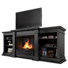 Real Flame Black Fresno Gel Fireplace