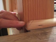 How to Install Shoe Molding or Quarter-Round and Cut a Return: Glue the Return…