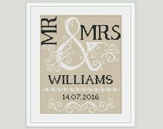 11 Wedding inspired cross stitch pattern for free and purchase that you can stitch up for the happy couple on their special wedding day