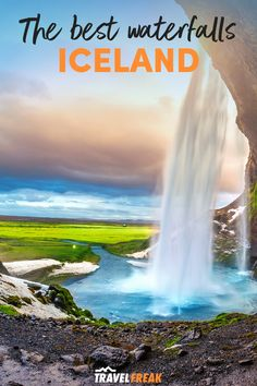 Discover the best waterfalls in Iceland and the most beautiful waterfalls Iceland with this guide to Iceland waterfalls you must visit. Including Iceland waterfalls Skogafoss, Gullfoss and Seljalandsfoss. They really are some of the most beautiful places in Iceland to visit on your Iceland trip. | iceland sights | blue waterfall iceland | iceland most beautiful places | iceland travel winter beautiful places | best places to go in iceland | best places to visit in iceland