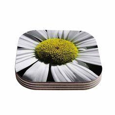 Kess InHouse Nick Nareshni 'Open Daisy' Blue Coasters