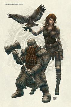 Dwarf and Druid