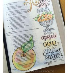 I love God's word  #proverbs25  #proverbs25:11 #bibletime  #biblejournaling  #apples by faithhopeandmore