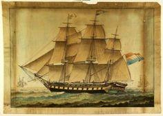 Schilderij van Fregatschip Nieuwe Zeelust hangt in het Scheepvaartmuseum te Amsterdam. Kapitein Carel Fredriks is met dit schip gevaren vanaf Texel naar Batavia in 1818 en is op 15 januari 1819 gestorven aan de gele koorts in Batavia. Carel Fredriks is een directe voorouder van mijn vrouw (6e generatie).