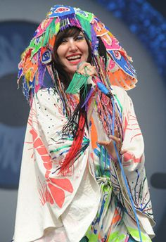 Costume designer and artist Christian Joy. Costume designer to Karen O of the Yeah Yeah Yeahs Punk Rock, Karen O, Psychedelic Fashion, Karen Gillan, Estilo Retro, Music Photo, India, Chic, Style Icons