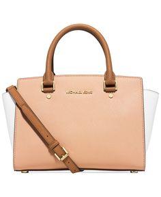 MICHAEL Michael Kors Selma Medium Top Zip Satchel - Handbags & Accessories - Macy's