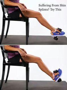 When calf muscles are stronger than shin muscles you get shun splints... ouch! Try this to help prevent this.