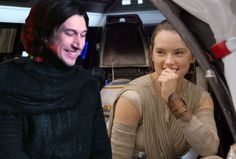 """thefandomfanatic: """"Imagine Kylo and Rey chilling in the Falcon :) Lol I had to make this picture"""