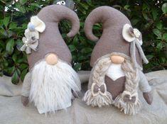 Large-Shabby-chic couple of gnomes wedding gnomes Swedish image 1 Christmas Gnome, Christmas Crafts, Christmas Ornaments, Gnome Ornaments, Christmas Mantles, Christmas Villages, Victorian Christmas, Vintage Ornaments, Vintage Santas